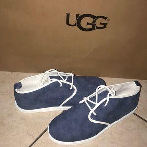 Men's UGG Maksim Canvas Blue Lace up Shoe #11